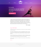 1st design concept for a yoga site - fixed size site