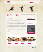 2nd design concept for a yoga site - fixed size site